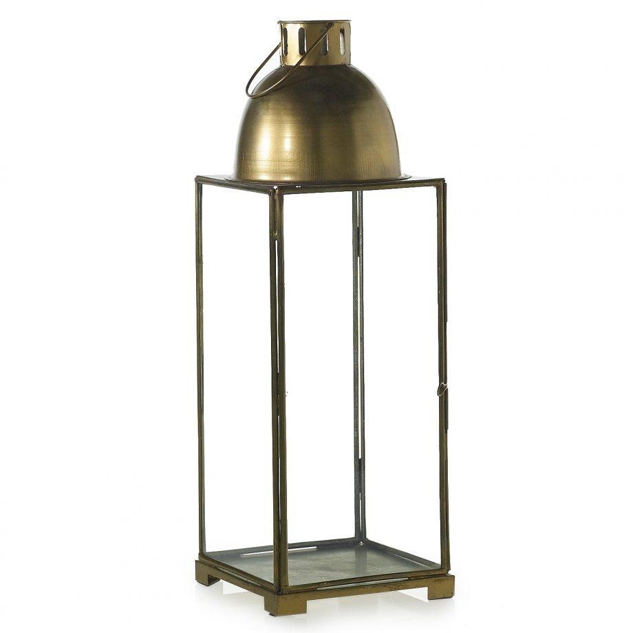 Ina brass and glass lantern
