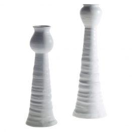 Italia White Ceramic Vase