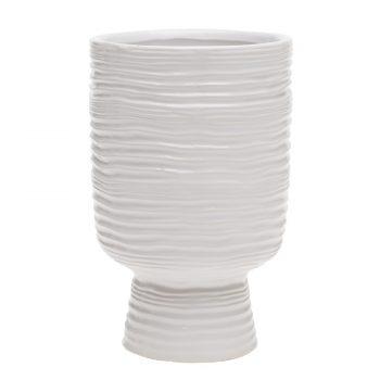 Monaco White Ceramic Vase