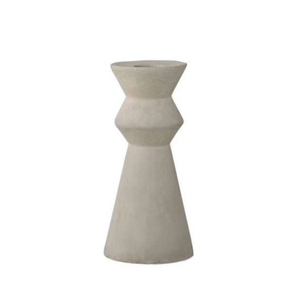 Cement taper candle holder