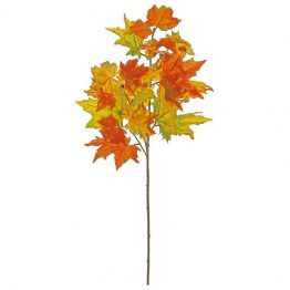 Faux fall Canadian maple leaf spray