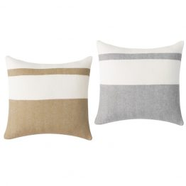 Cashmere striped throw pillow