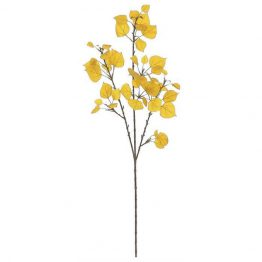 Faux gold aspen leaf branch