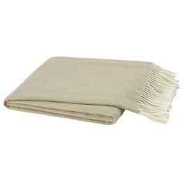 Beige herringbone cashmere throw