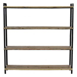 Reclaimed wood and iron shelf