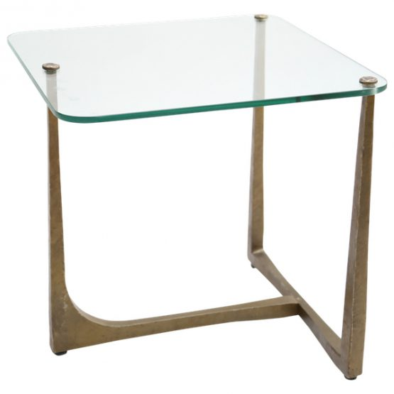 Iron & Glass End Table