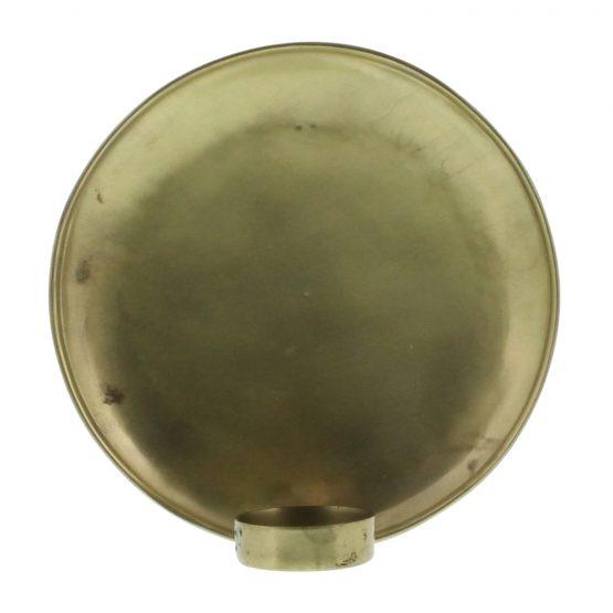 Brass tealight wall sconce