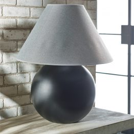 Ellis Black Ceramic Ball Table Lamp