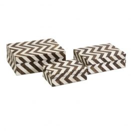 Chevron Bone Inlay Boxes