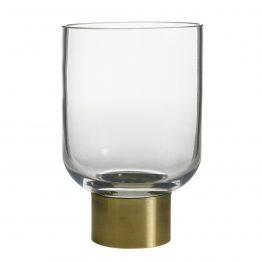 "6"" Concord Glass & Brass Vase"