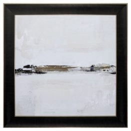 Lakeville Black White Gold Abstract Art