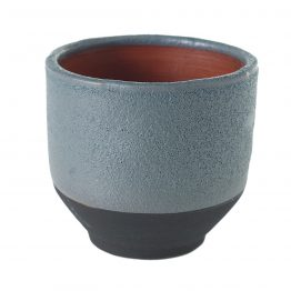 "5"" Levi Blue Textured Ceramic Pot"