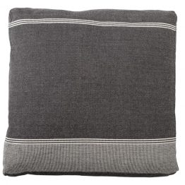 Flynn Gray & White Cotton Floor Pillow