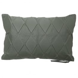 Green Quilted Leather Lombard Pillow