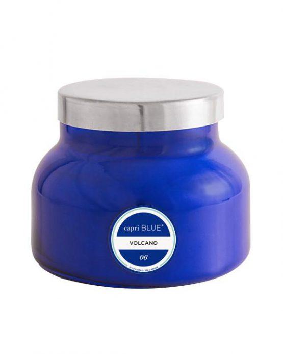 capri BLUE Volcano Candle Blue Jar