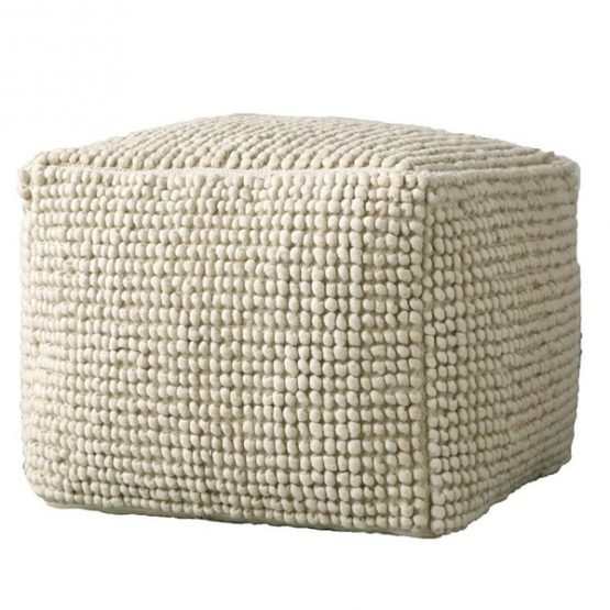 Knotted Wool Pouf