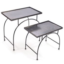 Metal nesting side tables