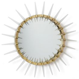 Burst Gold Mirror with Acrylic Spikes