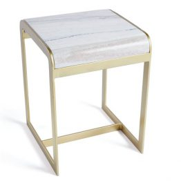 Marble & Brass side table