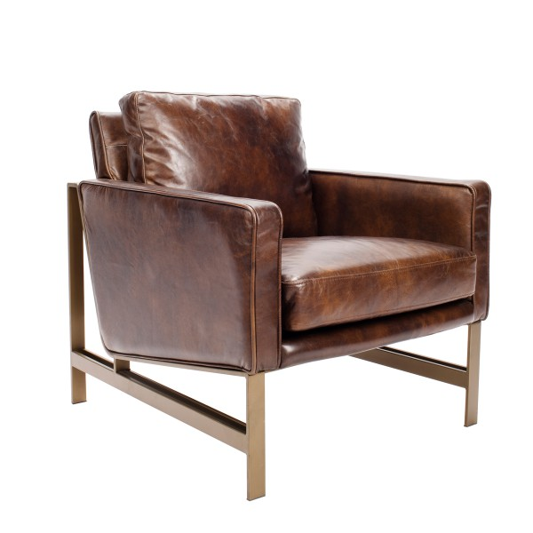 Tanner Leather And Br Club Chair