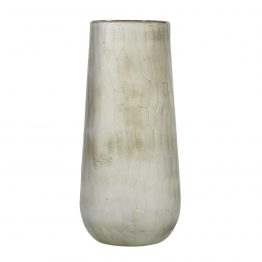 Earhart White Textured GlassVase