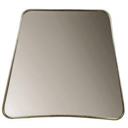 Freeport amebae shaped metal vanity mirror