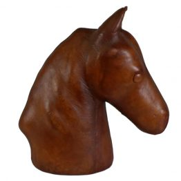 Wrangler Leather Horse Head Statue