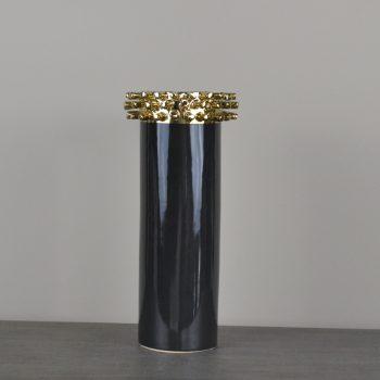Corneille Black and Gold Stud Vase