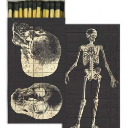 Black 3-inch matches with skeleton