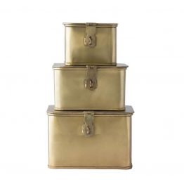 Brass Square Metal Decorative Box
