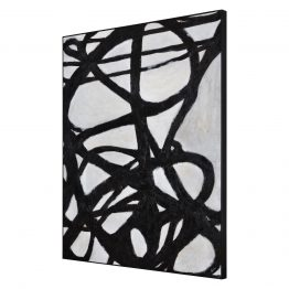 Charlotte Black and White Abstract Brushstroke Art