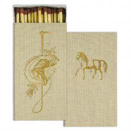 Gold Foil Equestrian Horse Western Matches