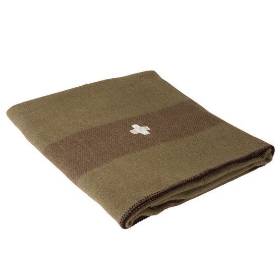 Green Swiss Army Wool Blanket