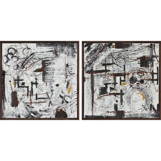 Russell Black and White Abstract Art