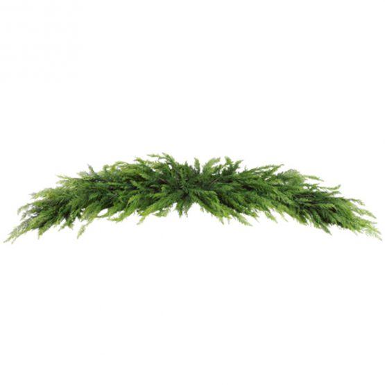 Faux cedar pine swag garland