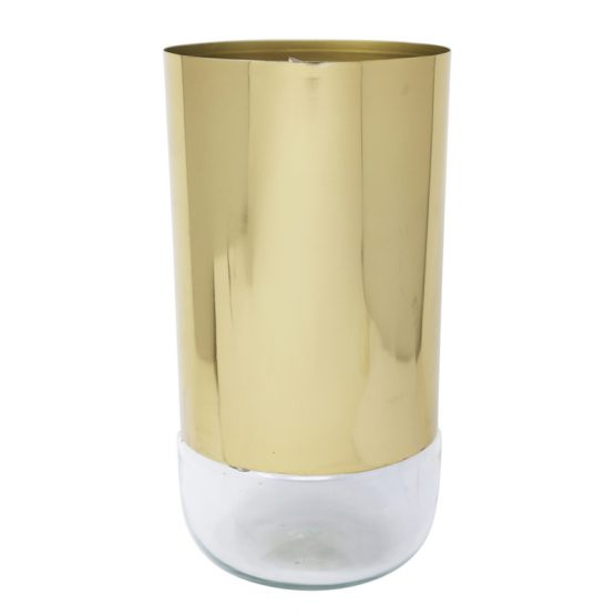 Gold and glass vase
