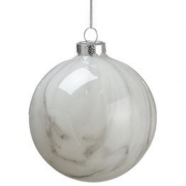 Marbled glass ball ornament