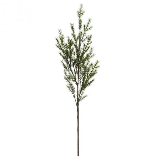 Faux green pine spray