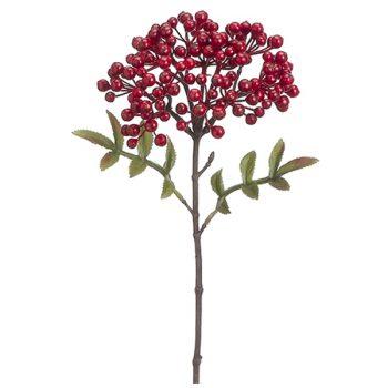 Red berry stem spray