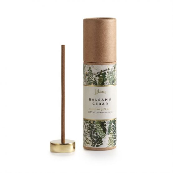 Balsam and Cedar scented incense set