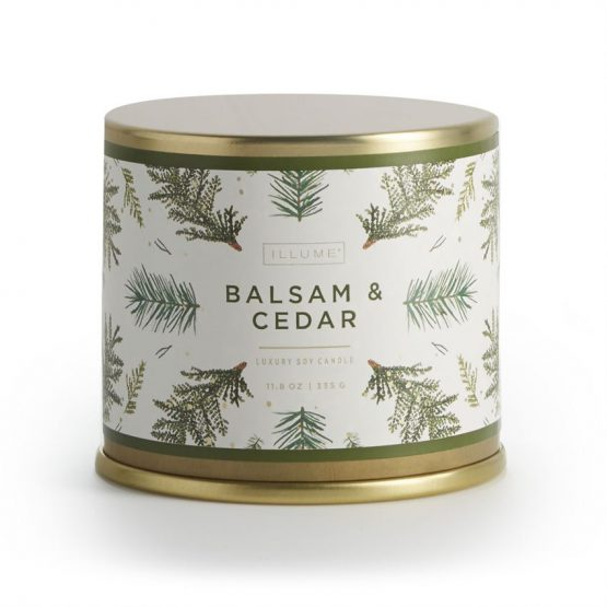 Balsam Cedar Scented Candle in large tin
