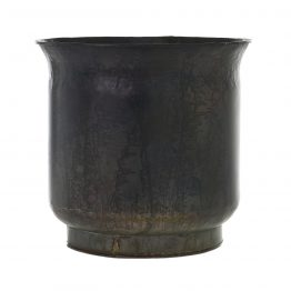 Black Iron Crackle Planter