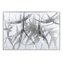 Black White Gray Brushstroke Art