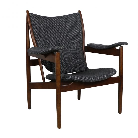 Frederik Gray And Wood Mid-Century Wingback Chair