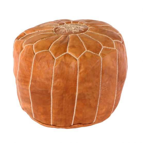 Light Brown Turkish Pouf