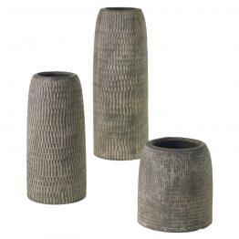 Stamped Stone Vase