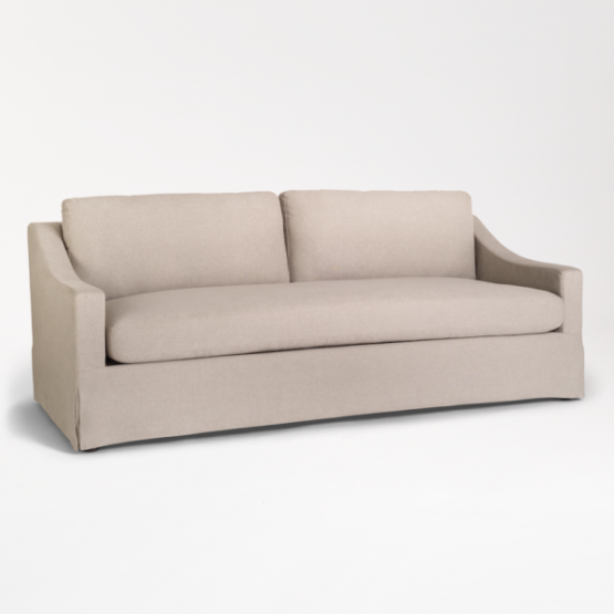 Tan Streamlined Traditional Sofa