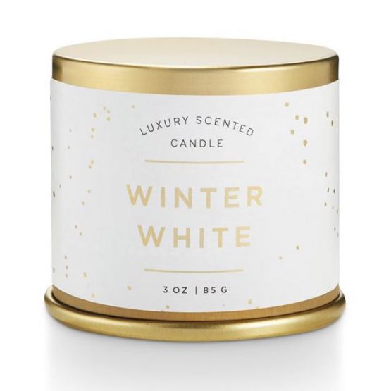 Illume Winter White Scented Candle in Large Tin