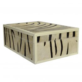 Zebra Hide Decor Box