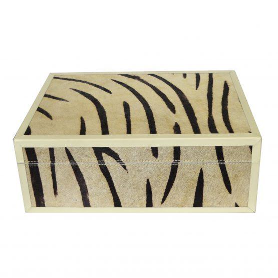 Zebra Hide Decor Box